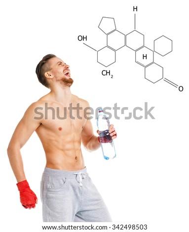 çekici adam boks şişe Stok fotoğraf © vlad_star