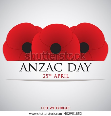 ANZAC (Australia New Zealand Army Corps) Day card in vector form stock photo © piccola