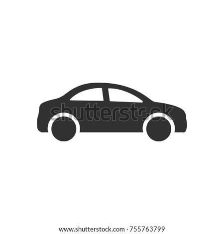 車 アイコン 黒 シルエット 孤立した ストックフォト © Fosin