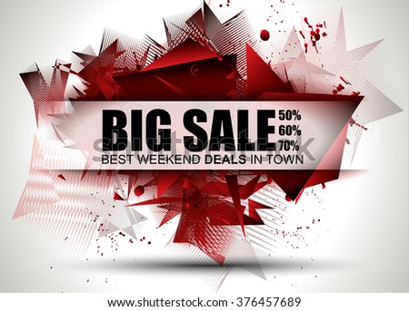 big sale best discoount in time web banner for shop sales tag stock photo © davidarts