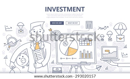 Business Planning  concept with Doodle design style: online solution Stock photo © DavidArts