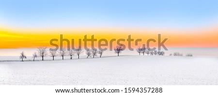 Scenico inverno panorama Bad cielo Foto d'archivio © meinzahn