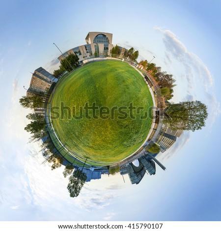 Panorama park Berlin hükümet binalar Stok fotoğraf © meinzahn