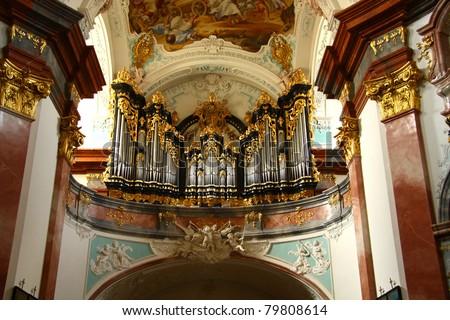 belső · zarándoklat · templom · alsó · Ausztria · épület - stock fotó © phbcz