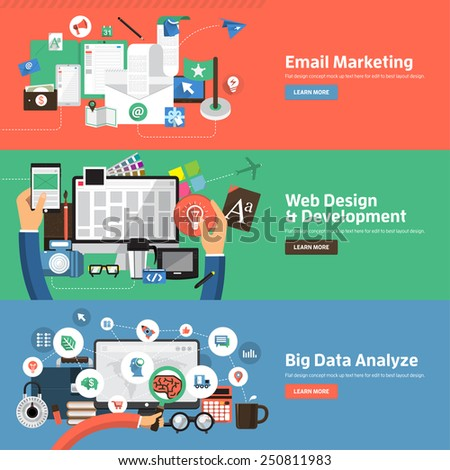 flat design illustration concepts for creative process big data filter data tunnel analysis conce stock photo © photoroyalty