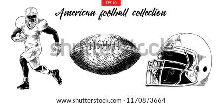 amerikai · futball · logo · szett · USA · sportok - stock fotó © jeksongraphics