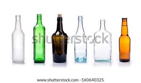 Szkła butelek mieszany kolory zielone biały Zdjęcia stock © szabiphotography