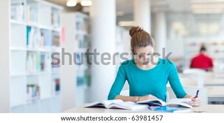 Gioioso studente biblioteca apprendimento istruzione Foto d'archivio © deandrobot