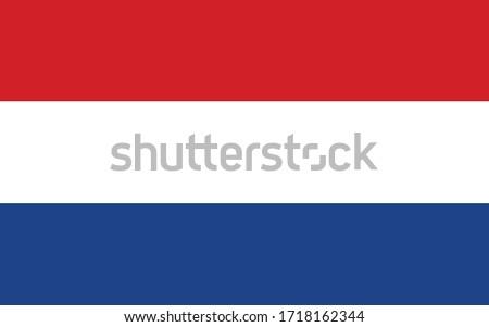 Illustratie eu vlag Nederland geïsoleerd witte Stockfoto © tussik