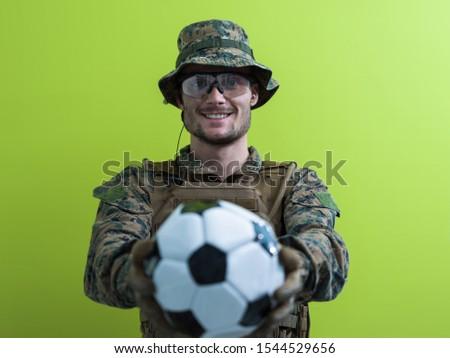 軍 スポーツ ボール 孤立した 緑 軍事 ストックフォト © MaryValery