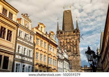 Powder Gate or Powder Tower along Celetna street. Prague, Czech  Stock photo © Kirill_M