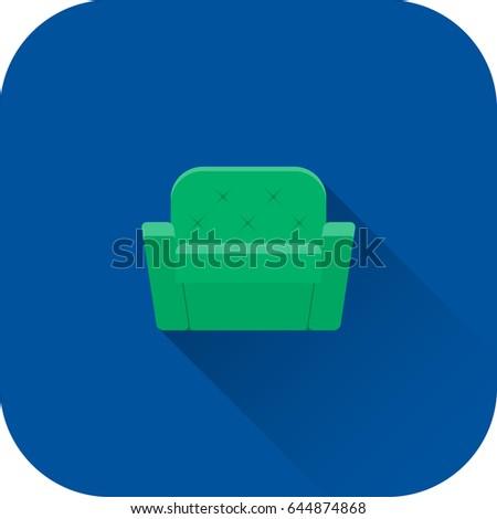 Cartoon sillón icono logo vector aislado Foto stock © Loud-Mango