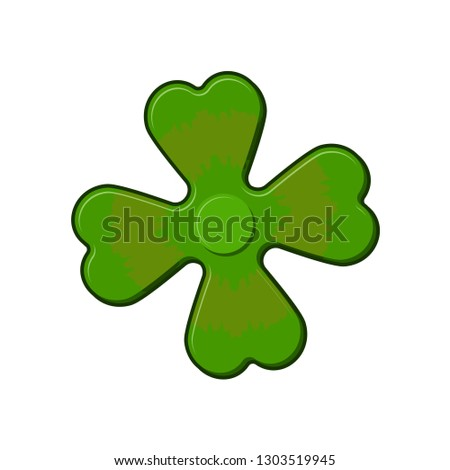 Irish spinner clover shamrock. Hand toy for Ireland. Green Clove Stock photo © popaukropa