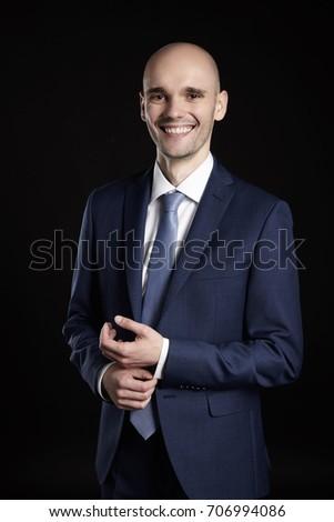 biznesmen · rękaw · garnitur · młody · człowiek - zdjęcia stock © filipw