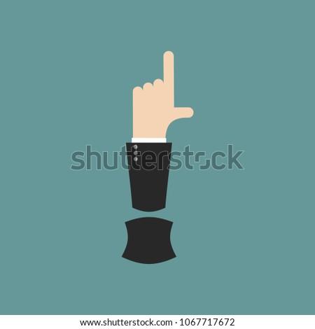 ünlem işareti mektup işadamı el parmak Stok fotoğraf © popaukropa