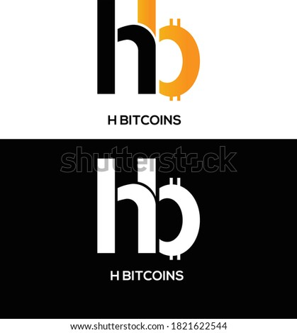 H letter bitcoin font. Cryptocurrency alphabet. Lettering virtua Stock photo © popaukropa