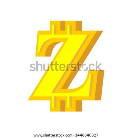 Z letter bitcoin font. Cryptocurrency alphabet. Lettering virtua Stock photo © popaukropa