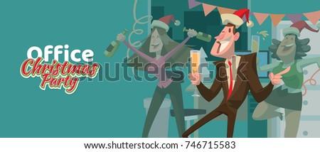 bêbado · homem · papai · noel · vetor · corporativo · natal - foto stock © pikepicture