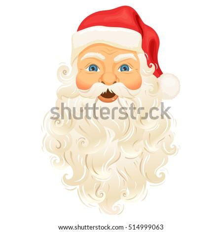 サンタクロース 顔 笑顔 幸せ 孤立した 白 ストックフォト © NikoDzhi