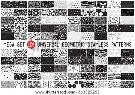 100 vector seamless pattern collection geometric universal patterns tiles and wallpapers   big pac stock photo © redkoala