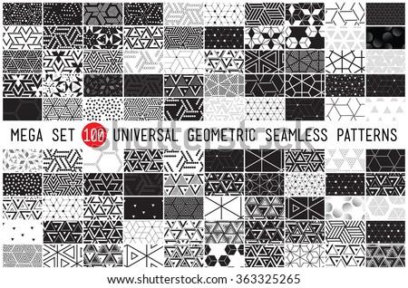 ストックフォト: 100 · ベクトル · コレクション · 幾何学的な · ユニバーサル