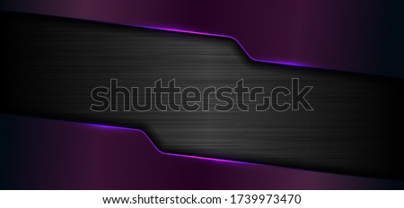 purple metal background with horizontal stripes vector illustration stock photo © kurkalukas