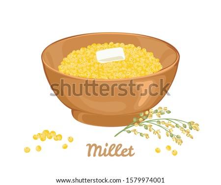 чаши зерновых изолированный здоровое питание завтрак дизайна Сток-фото © MaryValery