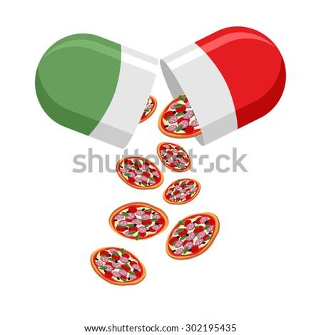 Patriótico medicina Itália pílulas bandeira italiana vetor Foto stock © popaukropa