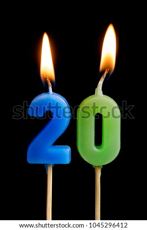 0 number and Candles for birthday. zero figure for holiday carto Stock photo © MaryValery