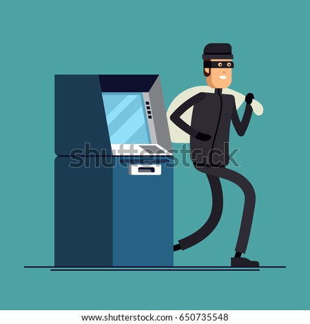 Business gang criminal. Businessman robber. Business robbery. Ve Stock photo © MaryValery