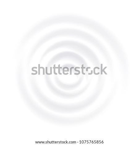 Milk Splash Vector. Clean Circle Waves. Curved Surface. Close Up. Realistic Illustration Stock photo © pikepicture