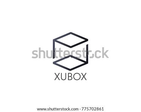 Absztrakt p betű logo ikon tér doboz Stock fotó © taufik_al_amin