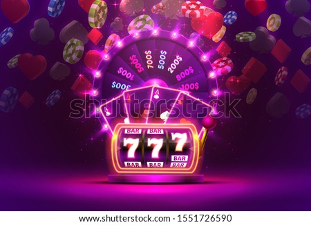 Casino Slot Machine Banner Vector. Fortune Chance Jackpot. Illustration Stock photo © pikepicture