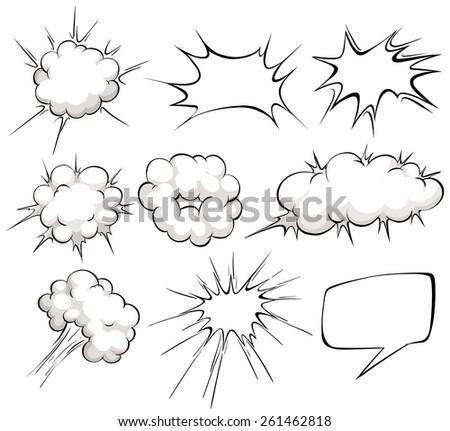 bam explode cartoon illustration Stock photo © romvo
