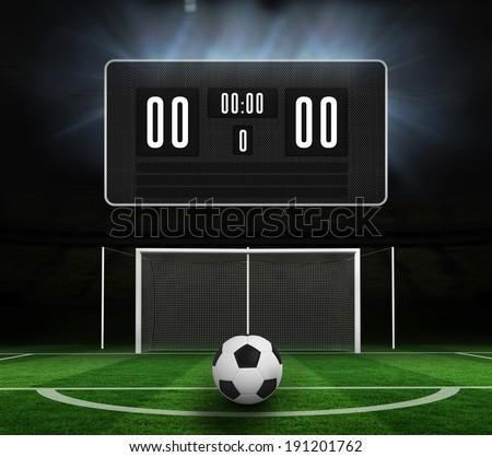 デジタル 生成された 白 革 サッカー ストックフォト © wavebreak_media