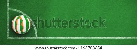 Futball Elefántcsontpart színek feketefehér futball sarok Stock fotó © wavebreak_media