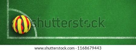 Futebol cores preto e branco futebol canto linha Foto stock © wavebreak_media