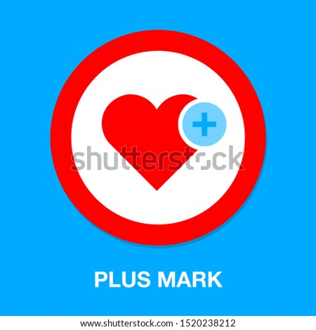 Heart icon with Add sign, favorite symbol plus mark element. vector illustration isolated on white b Stock photo © kyryloff