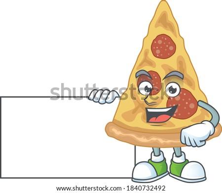 Heureux mascotte dessinée personnage trophée Photo stock © hittoon
