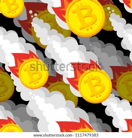 Falling bitcoin price pattern. Decrease in value of crypto curre Stock photo © popaukropa