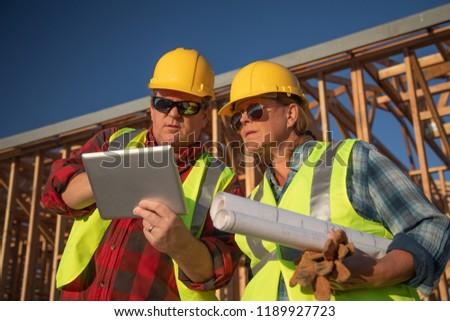 construção · madeira · grande · edifício · cópia · espaço · blue · sky - foto stock © feverpitch