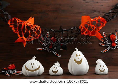 Decorativo abóbora forma aranha elemento Foto stock © Lady-Luck