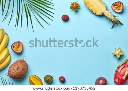 кокосового банан зеленый пальмовых листьев зрелый различный Сток-фото © artjazz