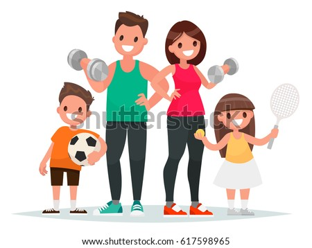 girl engaging in fitness vector sport healthy isolated illustration stock photo © pikepicture