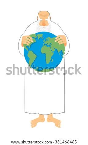 Boga ziemi ręce wszechświata starych dziadek Zdjęcia stock © popaukropa