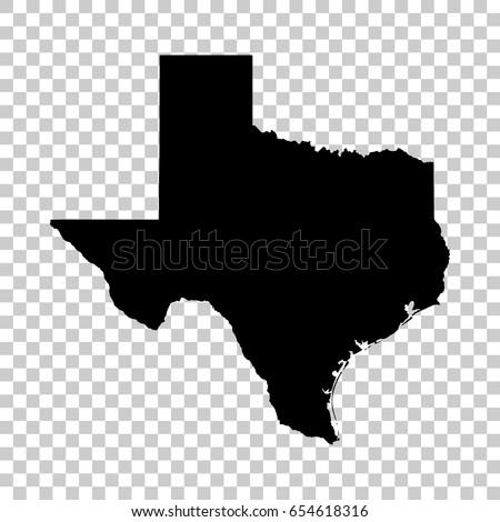 Texas mapa aislado transparente negro diseno Foto stock © kyryloff