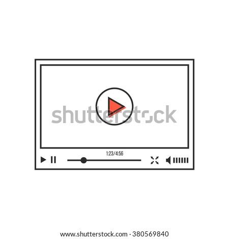 Fino linha vídeo jogador interface ecommerce Foto stock © kyryloff
