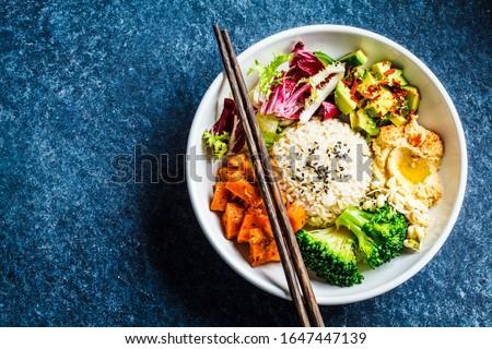 Taze organik brokoli lahana mavi model Stok fotoğraf © artjazz