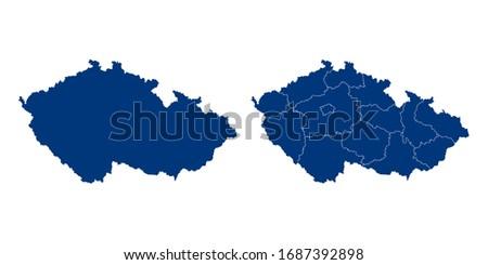 Moderne vector Tsjechische Republiek geïsoleerd witte eenvoudige Stockfoto © kurkalukas
