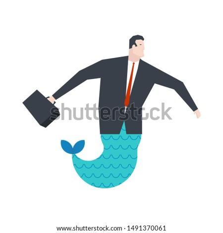 бизнесмен русалка Boss подводного служба жизни Сток-фото © MaryValery
